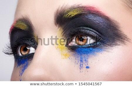 Szem testművészet közelkép lányok virág arc Stock fotó © zastavkin