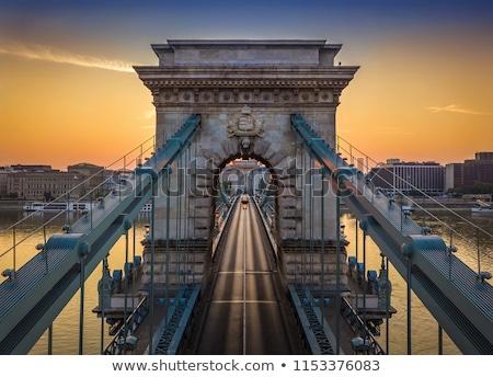Budapeşte köprü modern Macaristan yol inşaat Stok fotoğraf © krysek