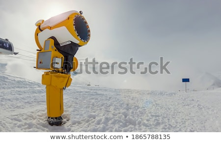 artificial · pista · de · esquí · imagen · vacío · nieve · francés - foto stock © redpixel
