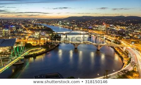 kolorowy · Night · City · budynków · most · samochodu · drogowego - zdjęcia stock © mroz