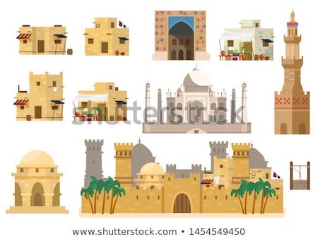 ősi iszlám kastély híres utazás istentisztelet Stock fotó © bbbar