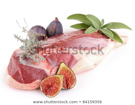 raw duck breast with figs Stock photo © M-studio