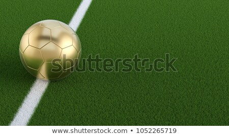 Or balle sol ballon terrain de football football Photo stock © ssuaphoto