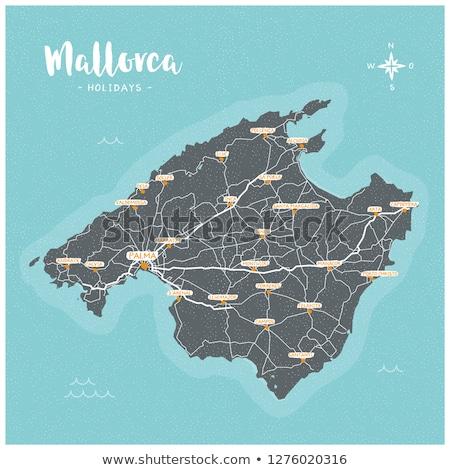 Map of Mallorca Stock photo © rbiedermann