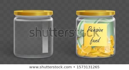 Stock fotó: Euro Banknotes In Money Jar