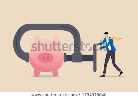 orçamento · cortar · texto · tesoura - foto stock © devon