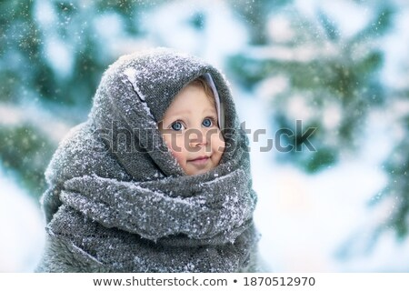 A little sweet girl felt hat Stock photo © RuslanOmega