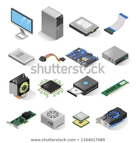 компьютер · здесь · право · Plug - Сток-фото © vectorminator