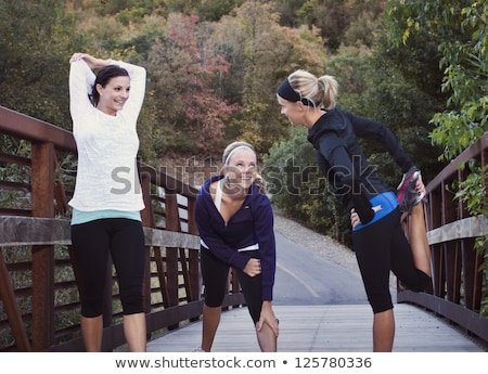 Woman getting into shape Stock photo © photography33