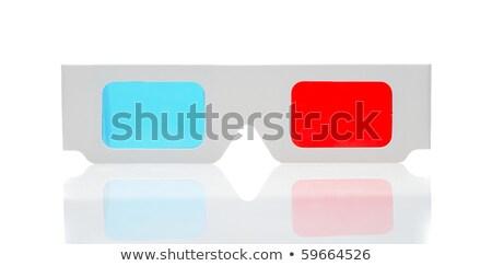 Verres blanche stéréo isolé papier film Photo stock © tashatuvango