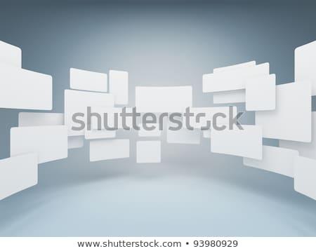 Galéria képek kék fal fény terv Stock fotó © tashatuvango