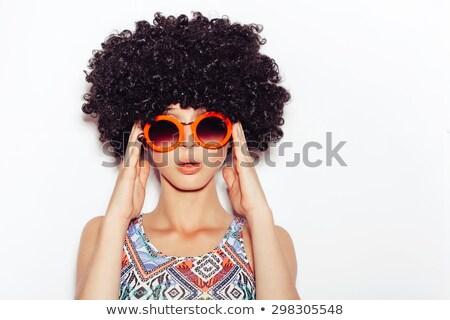 面白い 若い女性 かつら 孤立した ファッション モデル ストックフォト © acidgrey