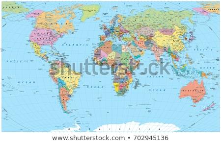 Rood wereldkaart vector kunst illustratie textuur Stockfoto © robertosch