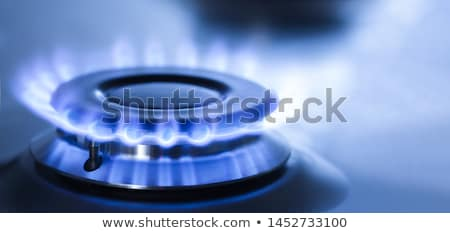燃焼 · ガス · クローズアップ · リング · 国内の · ストーブ - ストックフォト © veralub
