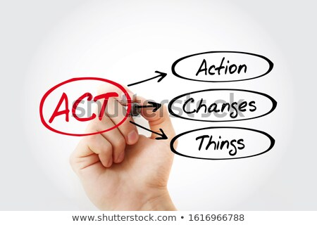action changes things acronym stock photo © ivelin