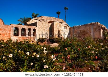 Mission San Juan Capistrano Church Ruins Rose Garden California  Stock photo © billperry