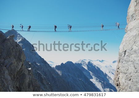 footbridge on via ferrata stock photo © antonio-s