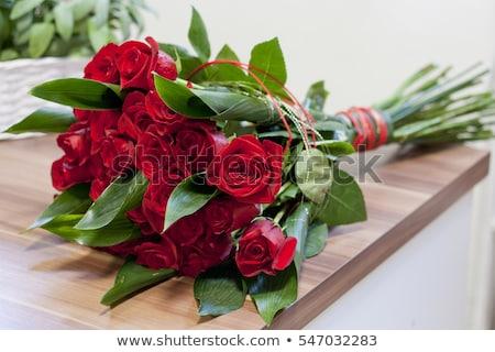 bouquet of red rose flowers stock photo © ziprashantzi