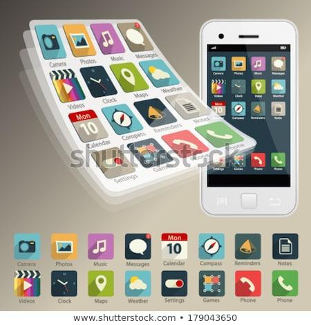 Móvel aplicações telefone móvel branco computador Foto stock © kolobsek