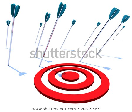 Viele Pfeile Ziel Ziel nicht Geld Stock foto © 4designersart