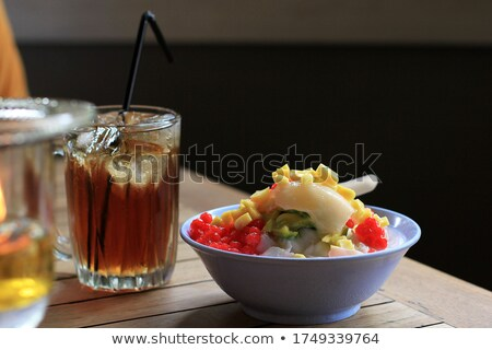 Indonesian cold Mixed Ice (Es Campur) served as dessert Stock photo © photosoup