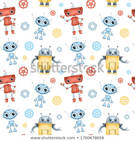 cute · cartoon · robot · main · technologie · jambes - photo stock © kariiika