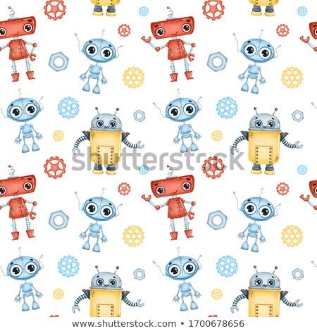 Stock foto: Etter · Cartoon-Roboter