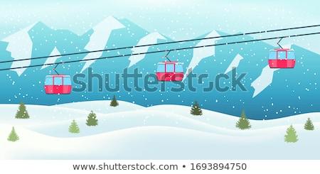 Góndola ascensor esquí Resort cáucaso montanas Foto stock © BSANI