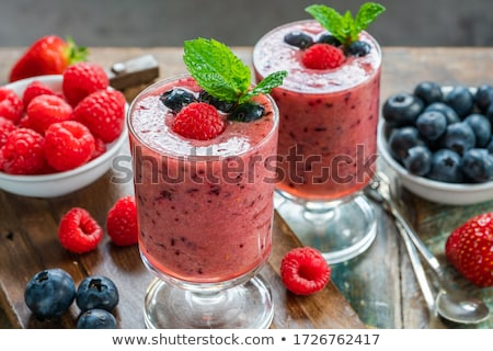 Berry smoothie verre Photo stock © unikpix