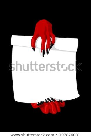 Devil Holding Sign Photo stock © Elisanth