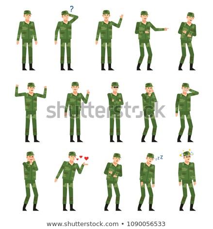 Enojado soldado militar arma fondo Foto stock © keeweeboy