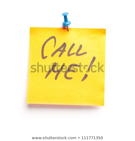 Call Me. Yellow Sticker on Bulletin. Stock photo © tashatuvango