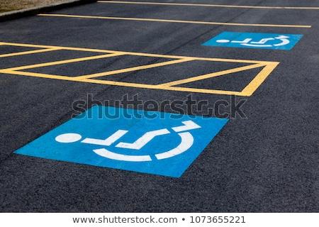 инвалид · символ · стоянки · пространстве · дороги · цвета - Сток-фото © wolterk