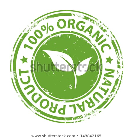 round stamp with text 100 organic stock photo © redpixel