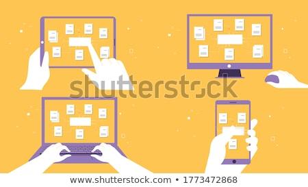 モニター マウス ビジネス インターネット 作業 ノートパソコン ストックフォト © Alegria111