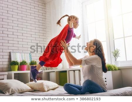 Anne çocuk oynamak kadın gökyüzü bahar Stok fotoğraf © Dar1930