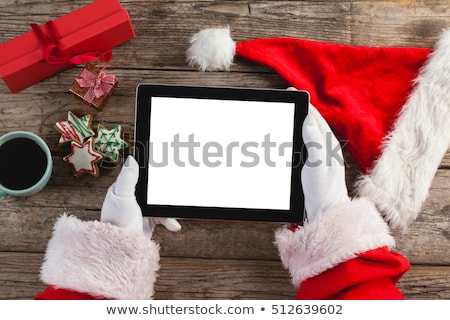 christmas · Święty · mikołaj · ręce · odizolowany · biały - zdjęcia stock © hasloo