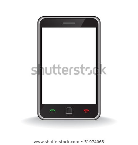 Music Player Smart Phone Isolated On White Foto stock © hfng