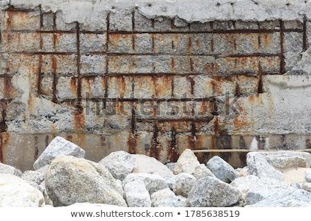 Korrózió férfi tart rozsdás darab fém Stock fotó © Stocksnapper