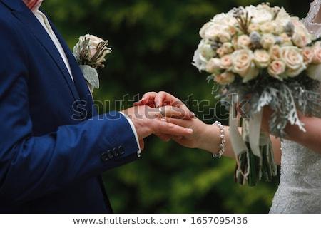 Wedding - ceremony and rings Stock photo © Kzenon