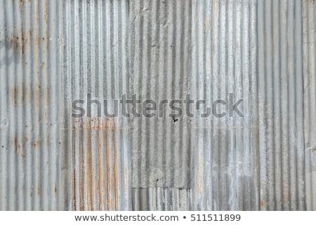 Grunge corrugate Zinc Sheet wall Stock photo © smuay