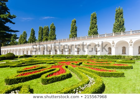 flower garden of kromeriz palace czech republic stock photo © phbcz
