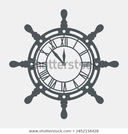 Sailor with clock isolated on white Stock photo © Elnur