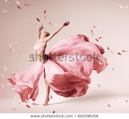 bloem · dans · silhouet · bevallig · dansen · meisje - stockfoto © HouseBrasil
