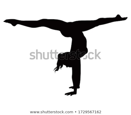 Yoga silhouette isolated  Stock photo © kariiika