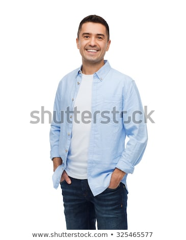 smiling middle aged man isolated on white stock photo © stockyimages