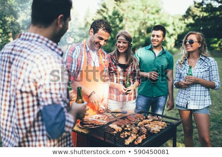viande · grillée · fruits · de · mer · mexican · style · maison - photo stock © stevemc