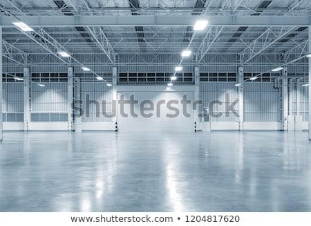 Industriële gebouw huis licht deur venster Stockfoto © meinzahn