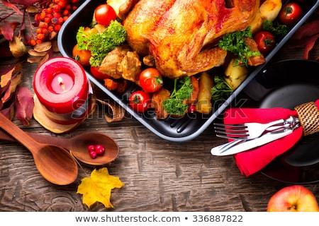 Roast - served delicious Stock photo © Farina6000