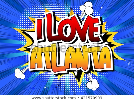 Atlanta Cartoon Stock photo © blamb
